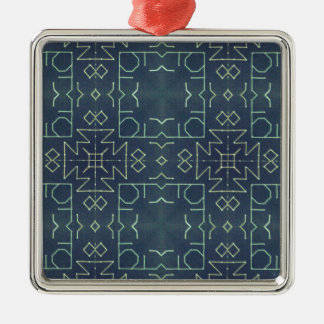 standard 1 square metal christmas ornament