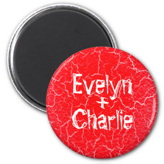 Standard 5.7 Cm Grunge Round Magnet for a Couple
