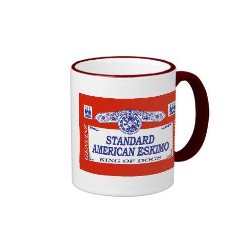 Standard American Eskimo Ringer Mug