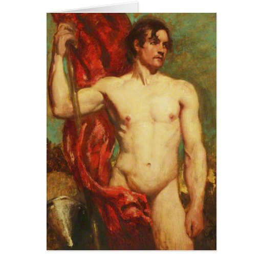 Standard Bearer by William Etty Greeting Card