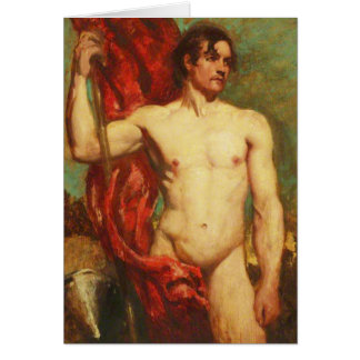Standard Bearer by William Etty Stationery Note Card