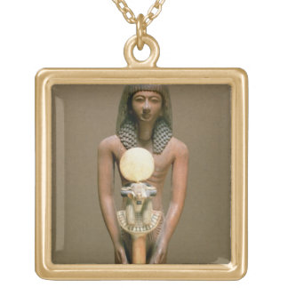 Standard-bearer with ram-headed standard (cariob w gold plated necklace