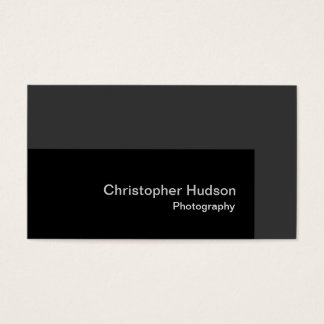 Standard Black Gray Photography Business Card