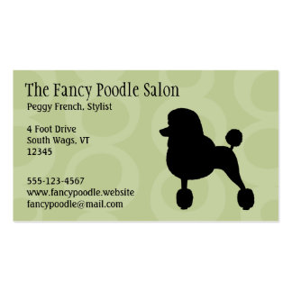 Standard Black Poodle Silhouette Double-Sided Standard Business Cards (Pack Of 100)
