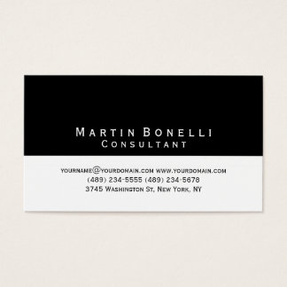 Standard Black White Stripes Modern Business Card