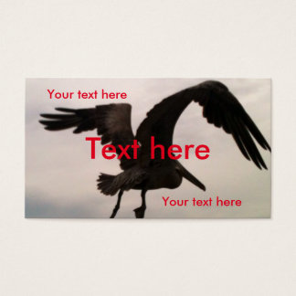 Standard business cards, Soaring pelican, custom Business Card