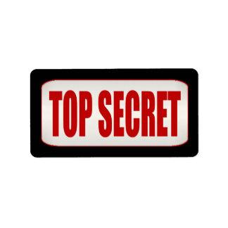 Standard Business Top Secret Medium Label