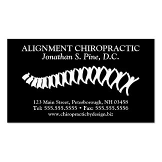 Standard Chiropractic Logo Appointment Cards Business Card