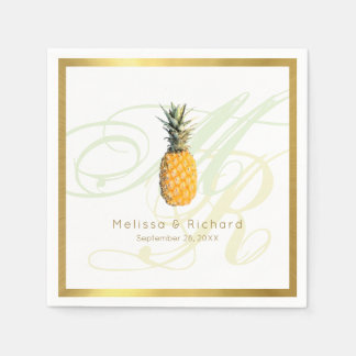 standard cocktail napkins for a tropical reception