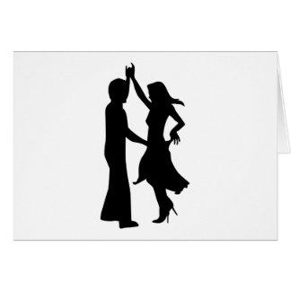 Standard dancing couple greeting card