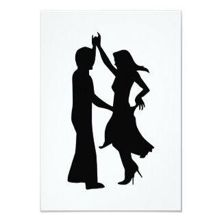 Standard dancing couple 3.5x5 paper invitation card