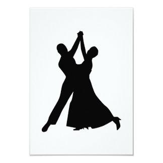 Standard dancing 3.5x5 paper invitation card