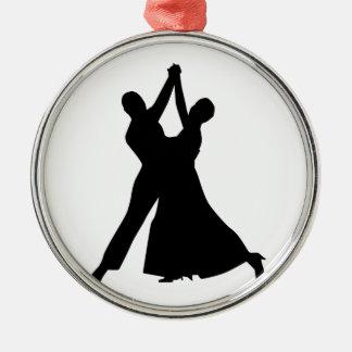 Standard dancing metal ornament