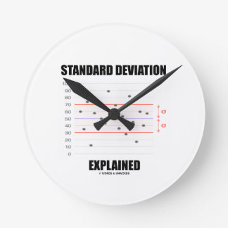 Standard Deviation Explained Round Wall Clock