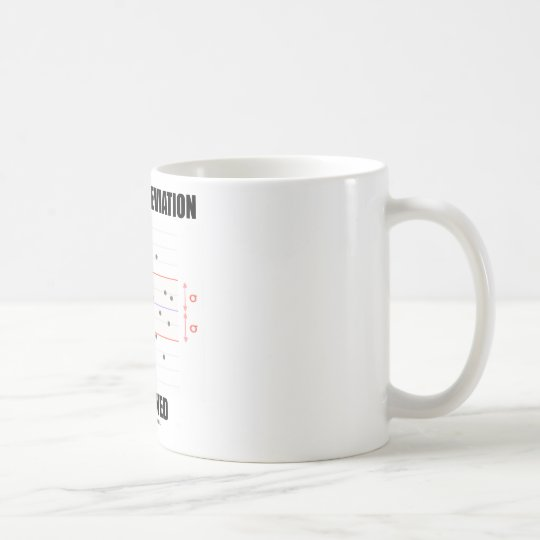 Standard Deviation Explained Coffee Mug