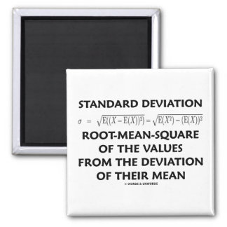 Standard Deviation Root-Mean-Square Of The Values Magnet