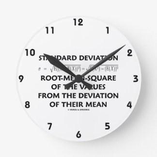 Standard Deviation Root-Mean-Square Of The Values Round Clock