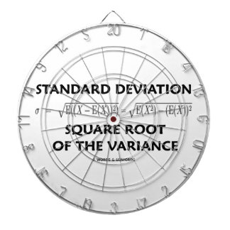 Standard Deviation Square Root Of The Variance Dart Board