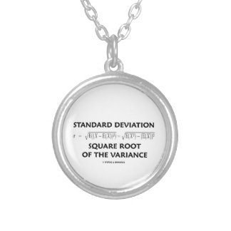 Standard Deviation Square Root Of The Variance Silver Plated Necklace