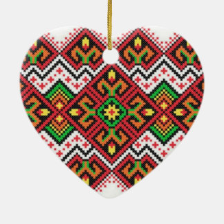standard embroidered type ceramic ornament