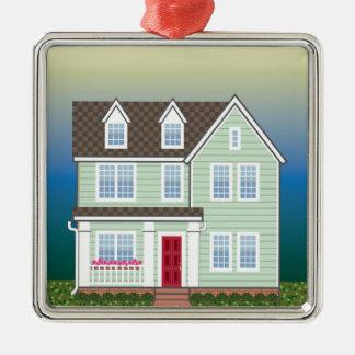 Standard House Metal Ornament