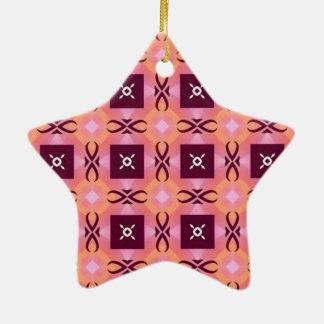 standard in squares ceramic ornament
