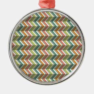 standard in zig zag metal ornament