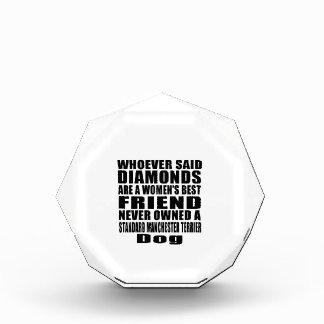STANDARD MANCHESTER TERRIER DOG BEST FRIEND DESIGN ACRYLIC AWARD