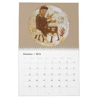 Standard medieval calendar 2 pages