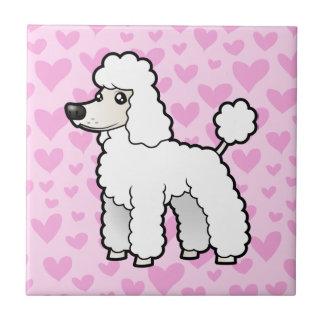 Standard / Miniature / Toy Poodle Love Ceramic Tile