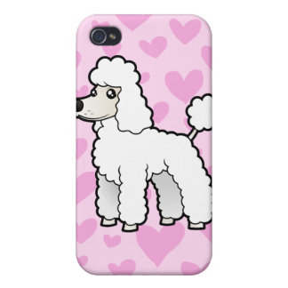 Standard/Miniature/Toy Poodle Love (puppy cut) iPhone 4 Cover