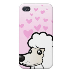 Case Savvy iPhone 4 Matte Finish Case with Poodle Phone Cases design
