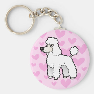Standard/Miniature/Toy Poodle Love (puppy cut) Keychain