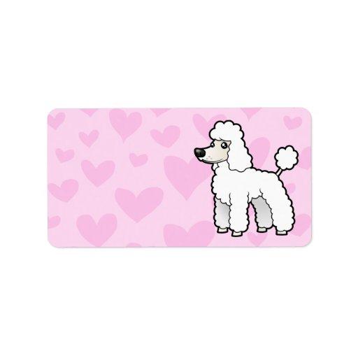 Standard/Miniature/Toy Poodle Love (puppy cut) Custom Address Labels