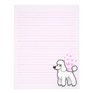 Standard/Miniature/Toy Poodle Love (puppy cut) Letterhead
