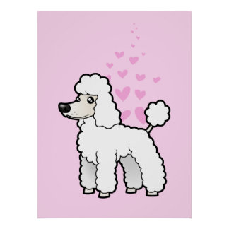 Standard/Miniature/Toy Poodle Love (puppy cut) Poster