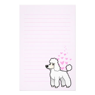 Standard/Miniature/Toy Poodle Love (puppy cut) Stationery