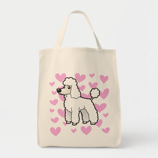 Standard/Miniature/Toy Poodle Love (puppy cut) Tote Bag