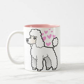 Standard/Miniature/Toy Poodle Love (puppy cut) Two-Tone Coffee Mug