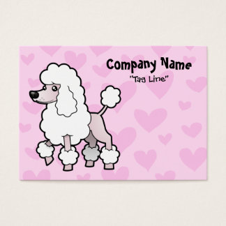 Standard/Miniature/Toy Poodle Love (show cut) Business Card