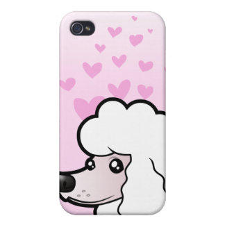 Standard/Miniature/Toy Poodle Love (show cut) iPhone 4 Cover
