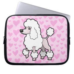 Neoprene Laptop Sleeve 10 inch with Poodle Phone Cases design