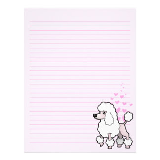 Standard/Miniature/Toy Poodle Love (show cut) Letterhead
