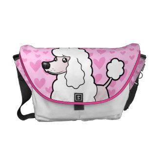 Standard/Miniature/Toy Poodle Love (show cut) Messenger Bag