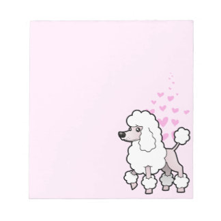Standard / Miniature / Toy Poodle Love (show cut) Notepads