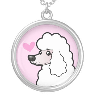 Standard/Miniature/Toy Poodle Love (show cut) Silver Plated Necklace