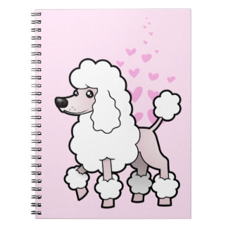 Standard / Miniature / Toy Poodle Love (show cut) Spiral Notebook