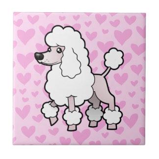 Standard / Miniature / Toy Poodle Love (show cut) Tile