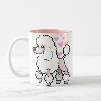 Standard/Miniature/Toy Poodle Love (show cut) Two-Tone Coffee Mug