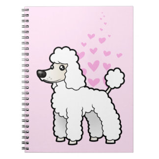 Standard / Miniature / Toy Poodle Love Spiral Notebook